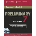 Cambridge Preliminary English Test 7 with answers and 2 Audio CDs