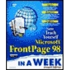 Teach yourself Microsoft FrontPage 98 in a week