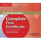Complete First Certificate for Spanish Speakers Class Audio CDs