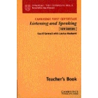 Cambridge First Certificate Listening and Speaking. Teacher's book