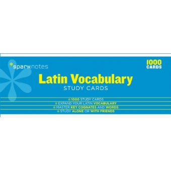 Latin Vocabulary Sparknotes Study Cards