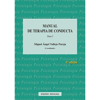 Manual de terapia de conducta. Vol. 1 (2016)