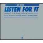 Listen fort it:A task based listening course:Compact Disc