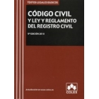 Código civil y reglamento del registro civil ( Colex)