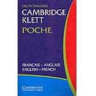 Cambridge Klett Poche Dictionnaire,français-anglais/english-french