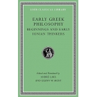 Early greek philosophy, volume I: Beginnings and early ionian thinkers