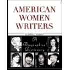 American Women Writers. A Biographical Dictionary