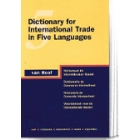 Dictionary for international trade in five languages