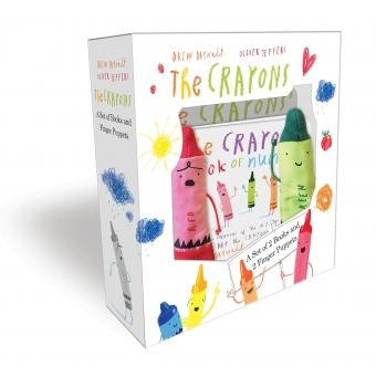 The Crayons. A Set Of And Finger Puppets