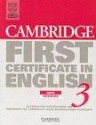 Cambridge First Certificate in English 3. With answers.Student's Book