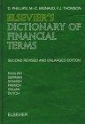 Elsevier's dictionary of financial terms: English-German-Spanish-French-Italian-Dutch