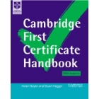 Cambridge First Certificate handbook. With answer. Textbook + 2 cassettes