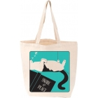 Love Lit Snore & Peace Cat Tote Bag