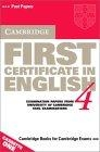 Cambridge First certificate in English 4.  (Cassettes)