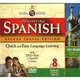 Mastering Spanish (8 audio CDs+DVD Tour of Cusine and MP3 CD.)