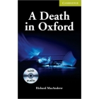 A death in Oxford (Camb. English Readers Starte/Beg¡nner) Book/Audio CD Pack