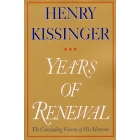 Years of renewal. The concluding volume of his memoirs