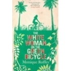 White Women on the green Bycicle