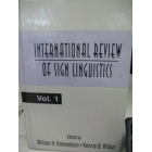 International Review of Sign Linguistics: v. 1