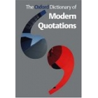 The Oxford Dictionary of Modern Quotations (rev. edition)