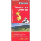 Vietnam, Laos, Camboya (Mapa national)