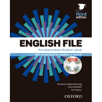 English File Pre-Intermediate Student's Book+Workbook+vocabulary checker (Pack) Third Edition 2012