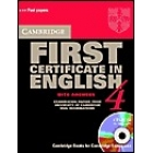 Cambridge First Certificate in English 4  with answers (Book and CD-ROM)