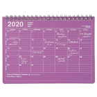 MARK'S 2020 Tischkalender S Purple