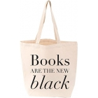 Books Are The New Black Love Lit Tote Bag